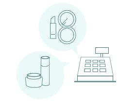 実店舗(直営店舗、百貨店店舗)とのデータ連携