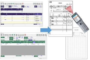システムから加工指示書・検査成績表など発行