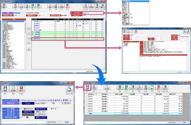 汎用集計表機能|アパレル向けアラジンオフィス