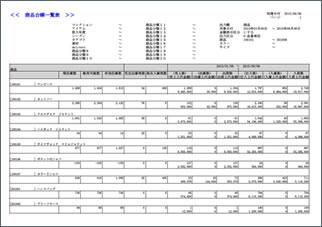 商品台帳一覧表