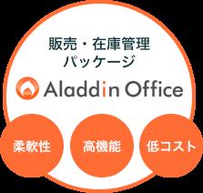 販売管理システム「アラジンオフィス」のポジショニングマップ