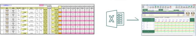 Excelデータからの店舗出荷指示データ取込